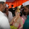 Nana Patekar at his residence celebrating Ganesh Chaturthi