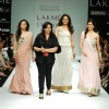 Models walk the ramp for Payal Singhal's creation at Lakme Fashion Week
