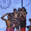 Models walks the ramp at Malini Ramani show for Grand Finale of Lakme Fashion Week