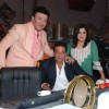 Sanjay Dutt, Farah Khan and Anu Malik  on the sets of entertainment ke liye kuch bhi karega at Film City