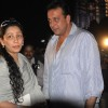 Manyata and Sanjay Dutt on Chotte Ustaad set