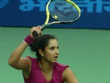 Sania Mirza during the women's singles final match against Anastasia Rodionova of Australia at the 19 th Commonwealth Games