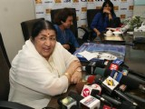 Lata Mangeshkar launches her Saregama India Ltd's album Aapki Sewa Mein Main Aur Mere Saathi at Saregama Office in Mumbai