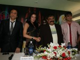 Govinda, Vivek Oberoi & Celina Jaitley at Country Club New Year Party Press Meet at Andheri, Mumbai
