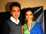 Deepika Padukone & Imraan Khan on the sets of Sa Re Ga Ma Pa.................