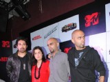 Farah Khan along with Rannvijay, Raghu and Rajiv at MTV Roadies promotional event