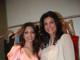 Sushmita Sen unveils Saisha design label by Shama Sikander at Bandra