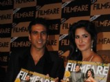 Katrina Kaif and Akshay Kumar unveil Special Anniversay Issue 2010 of Filmfare Magazine at Enigma in Hotel JW Marriott in Juhu, Mumbai