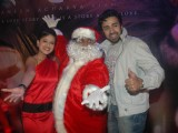 Choreographer-director Ganesh Acharya turns Santa Claus to promote his film 'Angel' at Andheri