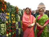 President Pratibha Patil at the Mughal Gardens in Rashtrapati Bhavan