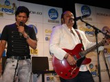 Shaan and Leslie Lewis at the launch of Radio One Cricket Anthem in Parel
