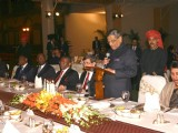 S M Krishna with Senegalese Foreign Minister Madicke Niang in New Delhi