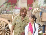 "Celebs on location of film ""Bin Bulaye Baarati"""
