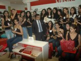 Models at Femina Miss India 2011 contestants visit Liberty store at Oberoi Mall