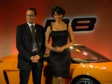 Gul Panag unveils the new Audi R8 Spider Venue at Taj Colaba