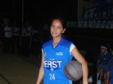 Neetu Chandra dabbles with Basket-Ball at Churchgate, Mumbai