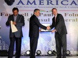 Namastey America organises grand fairwell to the US counul general Mr. Paul a Folmsbee