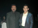 Sanjay Leela Bhansali with Aditya Narayan at X Factor logo launch at Juhu Hotel
