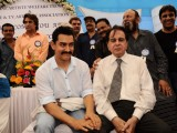 Dilip Kumar and Aamir Khan at CINTAA celebrations at Andheri