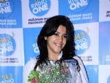 Ekta Kapoor with the star cast of Ragini MMS at Radio one at Parel