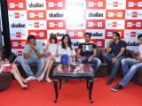 Anurag Kashyap and Kalki with the cast of the film 'Shaitan' at the launch of 92.7 BIG FM's 'Bollywood Secrets', in New Delhi