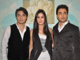 Imran Khan, Katrina Kaif and Ali Zafar on the sets of X Factor at Filmcity