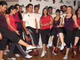 "Sania Mirza with trainer Vesna Jacob at the launch of adidas fitness training ""adiPure Trainer"", in New Delhi"