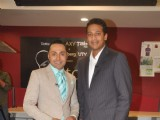 Rahul Bose and Mahesh Bhupathi at The Pitch shoot in Khar