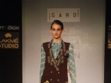 Model on the ramp for designer Garo on Lakme Fashion Week day 5 in Mumbai
