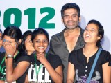 Bollywood actor Sunil Shetty with underprivileged children at the ChildFun day organized by ChildFund India, in New Delhi