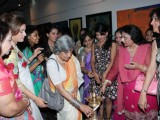 Rageshwari, Shruti Seth at Artist Punam Salecha's Lotus Art Exhibition Show at Museum Gallery in Mumbai