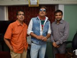 Bollywood actor Jackie Shroff promotes film 'Life Is Good' with Anant Mahadevan at MHADA