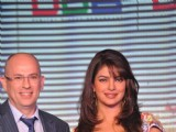 Bollywood actress Priyanka Chopra at Videocon D2H press meet JW Marriott Mumbai, India