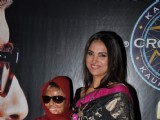 Bollywood actress Lara Dutta on the sets of KBC at Filmcity in Mumbai