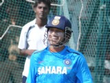 Indian cricket team at a practice session before the second cricket Test match in Hyderabad on March 1, 2013