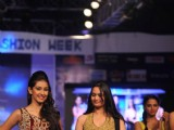 Miss India 2013 Navneet Kaur Dhillon walks for designer Shivangee Sharma at Rajasthan Fashion Week