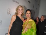 Hollywood Actress Sharon Stone & Hilary Swank at the inauguration of amfAR India event at Hotel Taj Mahal Palace in Mumbai