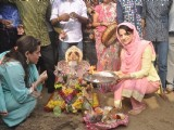 Ameesha Patel at the Visarjan of Lord Ganesha