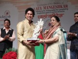 Sachin Tendulkar felicitated on Lata Mangeshkar's 85th Birthday