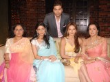 Jaya Bachchan, Hema Malini, Shweta Nanda and Esha Deol with Karan Johar on the sets of Koffee with Karan