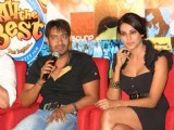 "Ajay Devgan and Bipasha Basu at a press meet for the film ""All The Best"" in New Delhi"