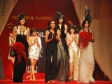 Models walk on the ramp for Designers Monisha Jaising