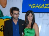 "Ranbir Kapoor and Katrina Kaif at the sucess bash of his movie ""Ajab Prem Ki Kajab Kahani"" in Novotel"