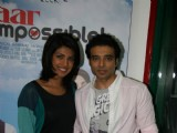 "Priyanka Chopra and Uday Chopra at the promotional event of ""Pyaar Impossible"" at Radio Mirchi studio"
