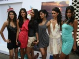 Models at Kingfisher calendar launch in Napeansea Road, Mallya''s residence