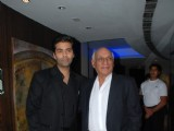 Karan Johar and Yash Chopra at the launch of YRF TV series with Sony at Hyatt Regency
