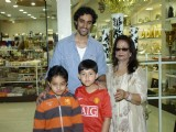 "Kunal Kapoor with a guest at the launch of ""Tresorie"" store in Oberoi Mall"