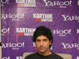 Farhan Akhtar at Yahoo-KCK tie-up media meet at Bandra, MUmbai