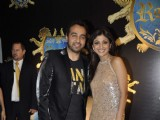 Shilpa Shetty with Raj Kundra at her 'Royalty' restaurant opening, Bandra
