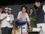 Bollywood actress Gul Panag cleaning her hand